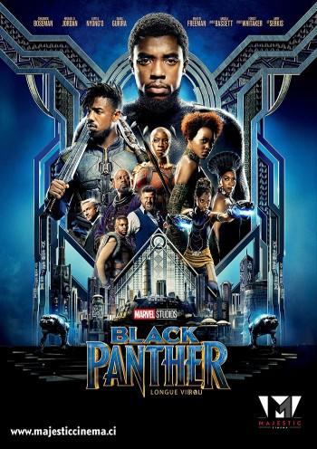 Affiche du Film Black Panther au Majestic cinéma