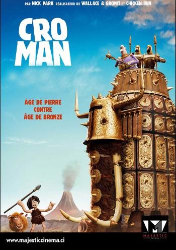 Affiche du Film Cro Man au Majestic cinéma