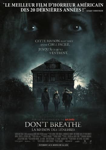 Affiche du Film Don't Breathe au Majestic cinéma
