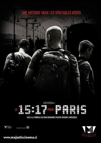 Affiche du Film Le 15:17 pour Paris au Majestic cinéma