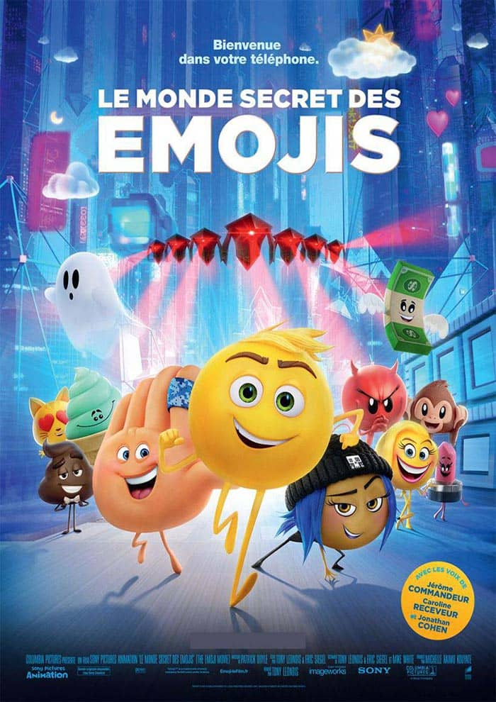 Affiche du Film Emoji Express Yourself : Le monde secret des emojis au Majestic Prima