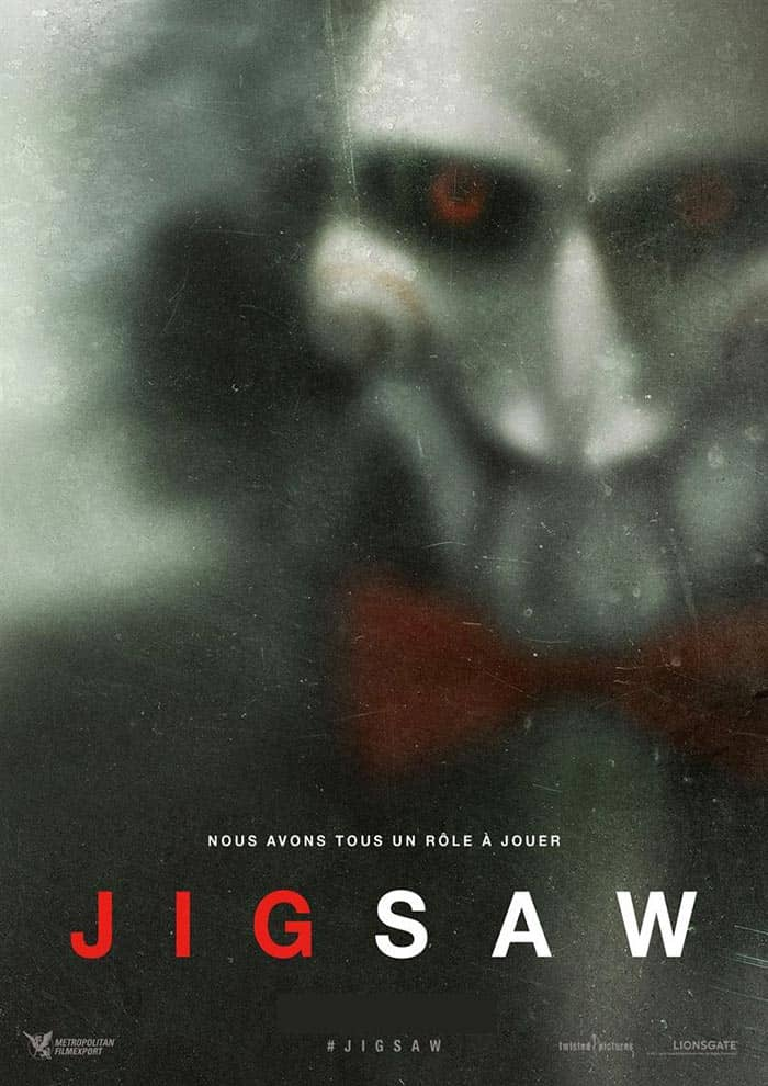 Affiche de Jigsaw actuellement en salle au Majestic Cinéma
