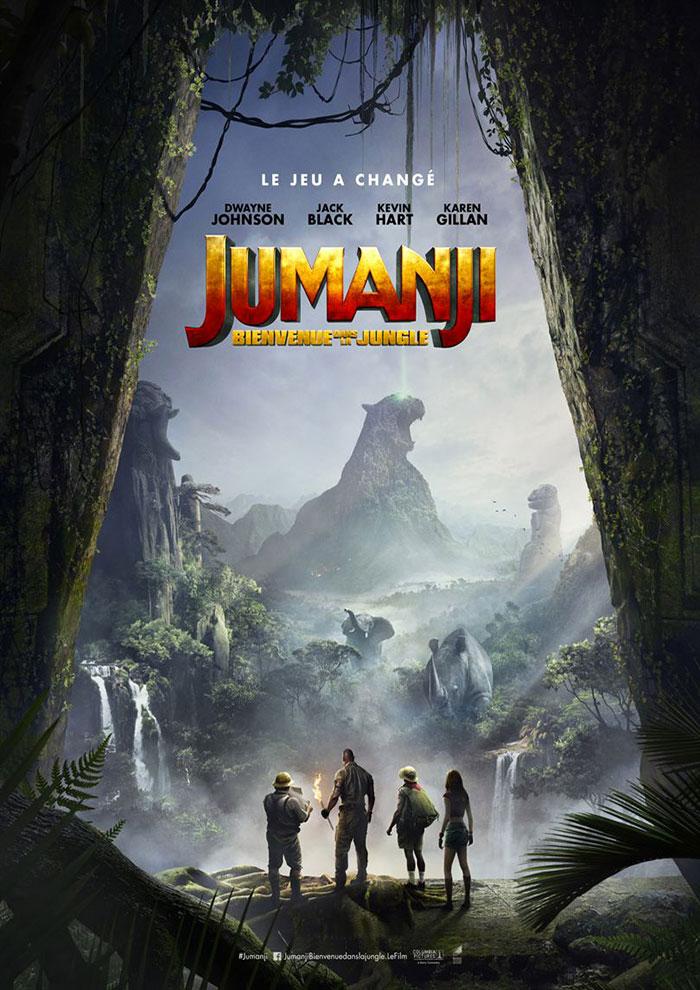Affiche du Film Jumanji à venir au Majestic Sococé