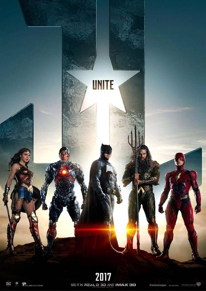 Affiche du Film Justice League au Majestic Prima