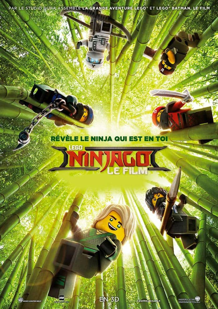 Affiche de Ninjago actuellement en salle au Majestic Cinéma