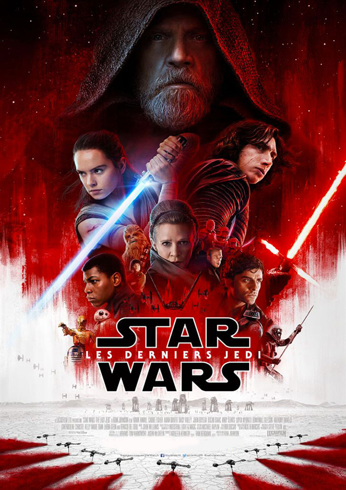 Affiche du Film Star Wars: Les Derniers Jedis à venir au Majestic Sococé
